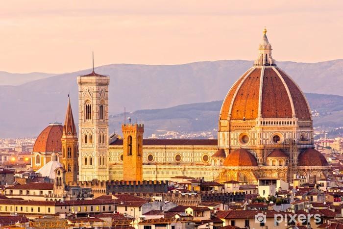 Fototapeta winylowa Florence, widok na Duomo i Giotto dzwonnica. - Europa