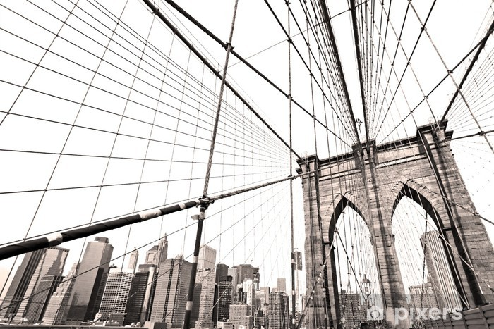 Naklejka Pixerstick Manhattan Bridge, New York City. USA. - Tematy