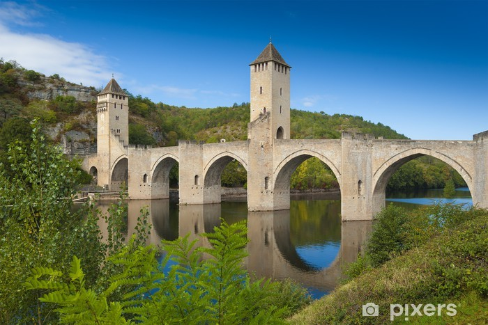 Carta da Parati in Vinile Ponte medievale Valantre in Francia - Temi
