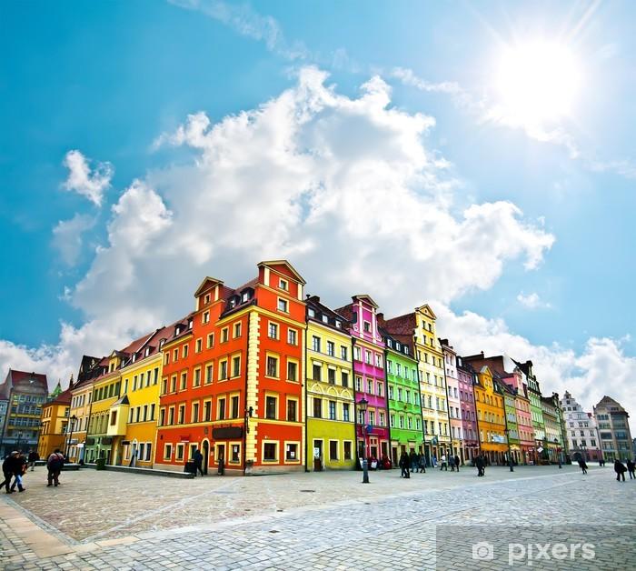 Fotomural Estándar Centro de la ciudad de Wroclaw, Market Square viviendas - Temas