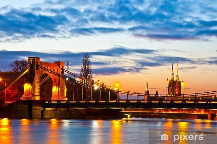 Papier peint vinyle Wroclaw au coucher du soleil - Thèmes