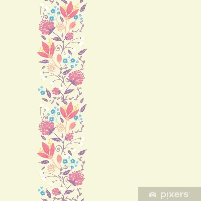 Fotomural Vector flores y hojas frescas de campo elegante sin ...