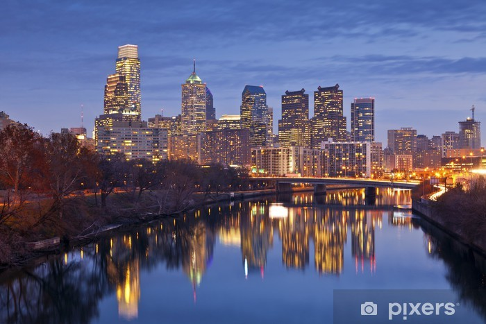 Philadelphia. Pixerstick Sticker - America