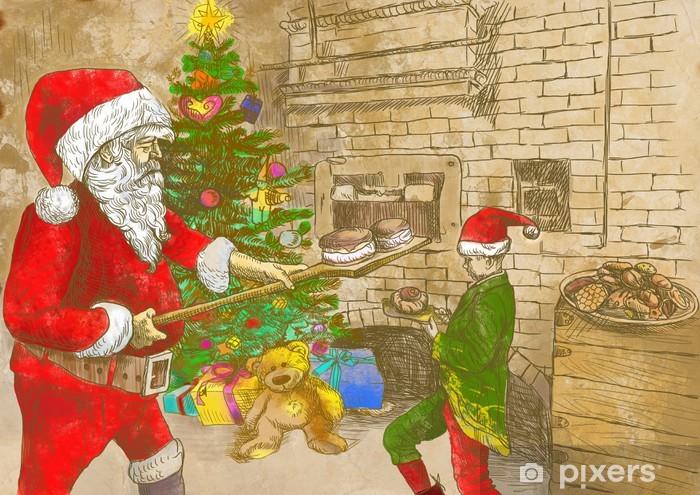Babbo Natale Originale.Adesivo Babbo Natale Come Panettiere Dimensioni Originale
