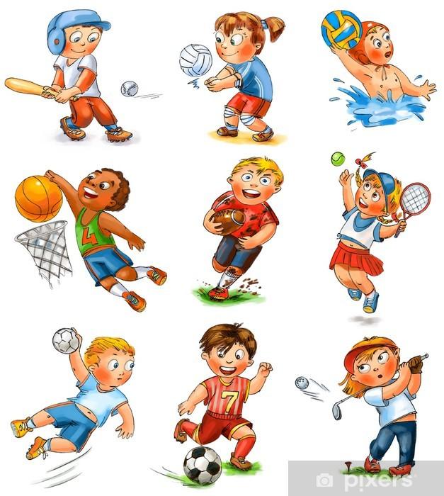 Bord- og skrivebordsklistremerke Barns deltakelse i sport - Barn