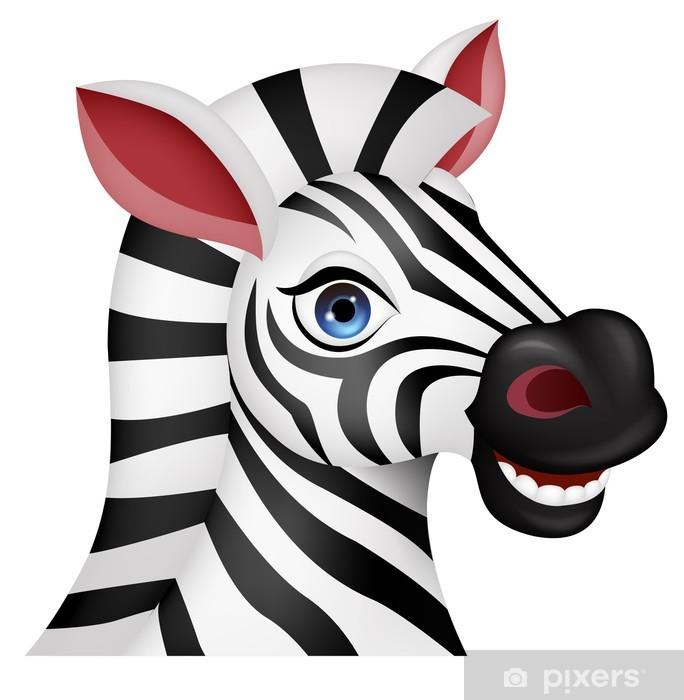 Adesivo zebra testa cartone animato u pixers viviamo per il