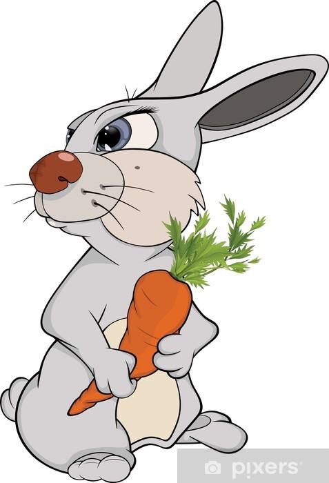 Fotomural Conejo Y Una Zanahoria Dibujos Animados Pixers Vivimos Para Cambiar Es la forma domesticada de la zanahoria silvestre, oriunda de europa y asia sudoccidental. https pixers es fotomurales conejo y una zanahoria dibujos animados 47344549