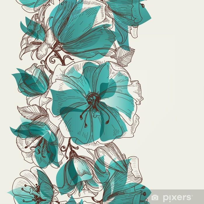 Vinilo para Armario Flor vector sin patrón - Estilos