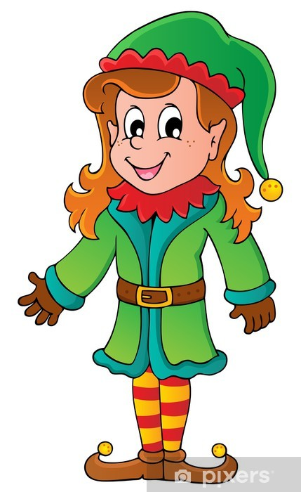 Naklejka Boze Narodzenie Elf Motyw 5 Pixers Zyjemy By Zmieniac