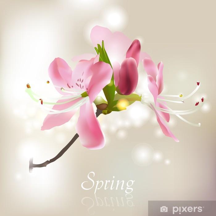 Plakat Kwiat wiosenny - Drzewa