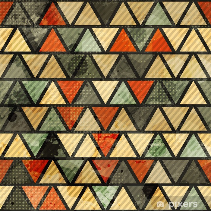 grunge triangle seamless pattern Vinyl Wall Mural - Signs and Symbols