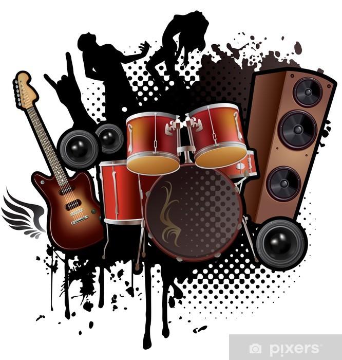 Fototapeta winylowa Muzyka Rock streszczenie - Naklejki na ścianę