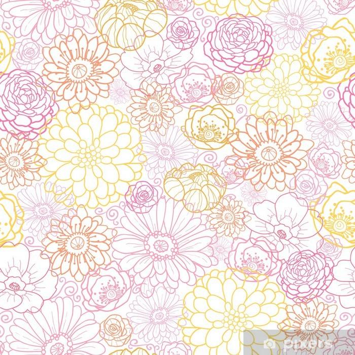 Fototapeta winylowa Ślub kwiaty wektorowe bukiet elegancki seamless pattern - Kwiaty