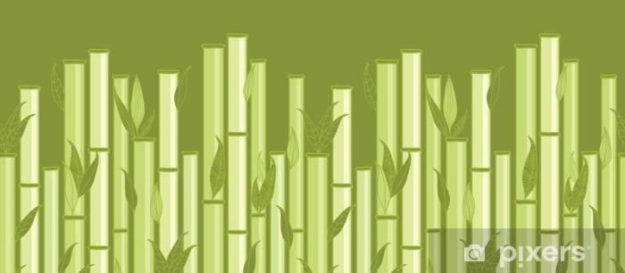Fototapeta winylowa Wektor liści i łodygi bambusa horyzontalny szwu wzór - Tematy