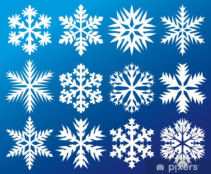 Naklejka Pixerstick Kolekcja płatki śniegu - Tła