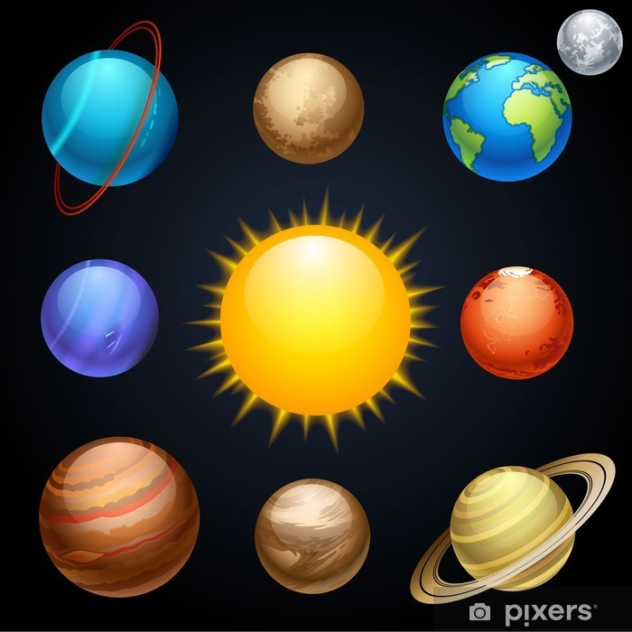 planets Pixerstick Sticker - Outer Space