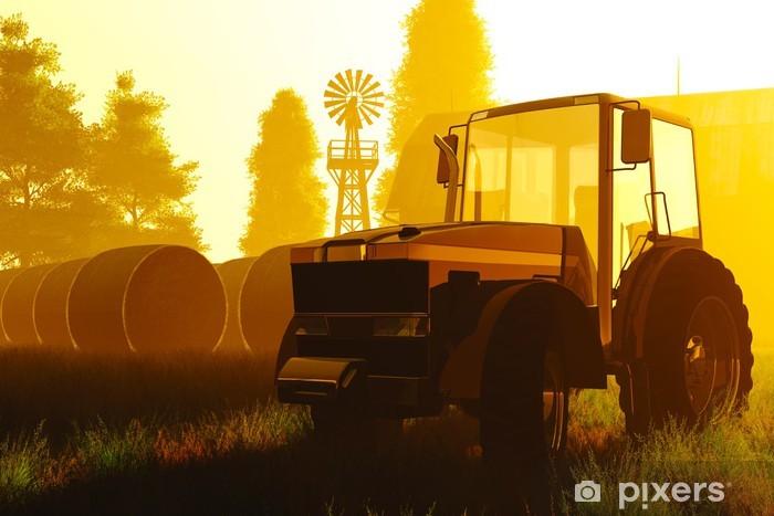 Naklejka Pixerstick Rolnictwo Concept 3D render - Znaki i symbole