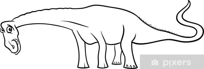 Boyama Kitabi Icin Karikatur Diplodocus Dinozor Cikartmasi
