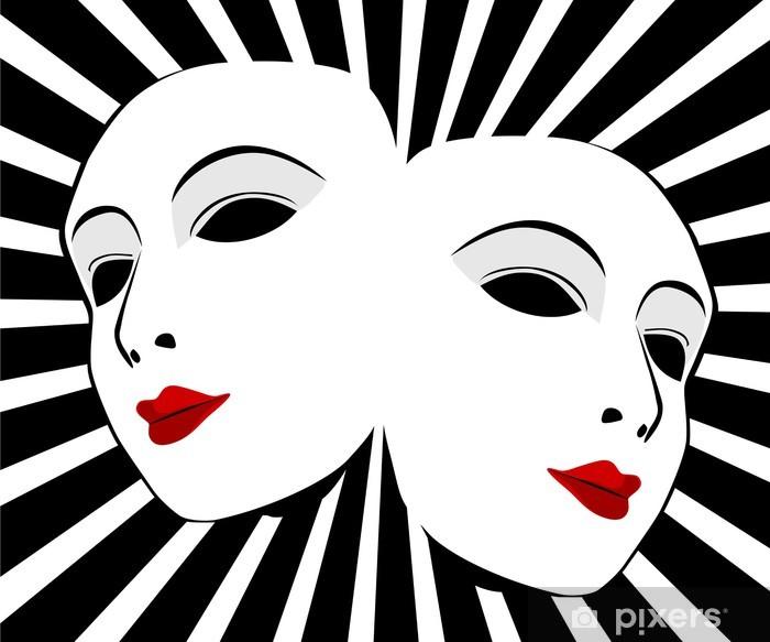 Vinilo Pixerstick Máscaras vectoriales. Las máscaras con el concepto de teatro - Artes y creación