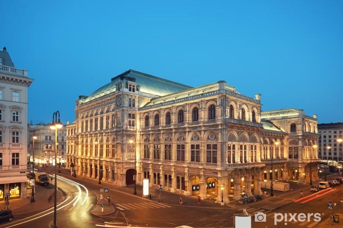 Fototapeta winylowa Vienna Opera House w nocy. - Miasta europejskie