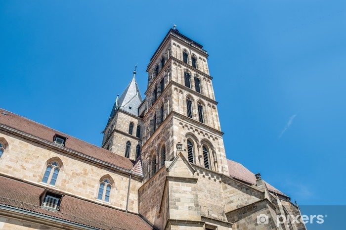 Naklejka Pixerstick Kościół św Dionizy w Esslingen am Neckar, Niemcy - Europa