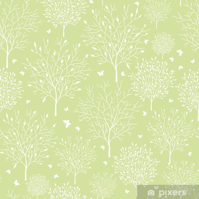 Papier peint vinyle Vecteur printemps arbres dans le jardin seamless - Arbres