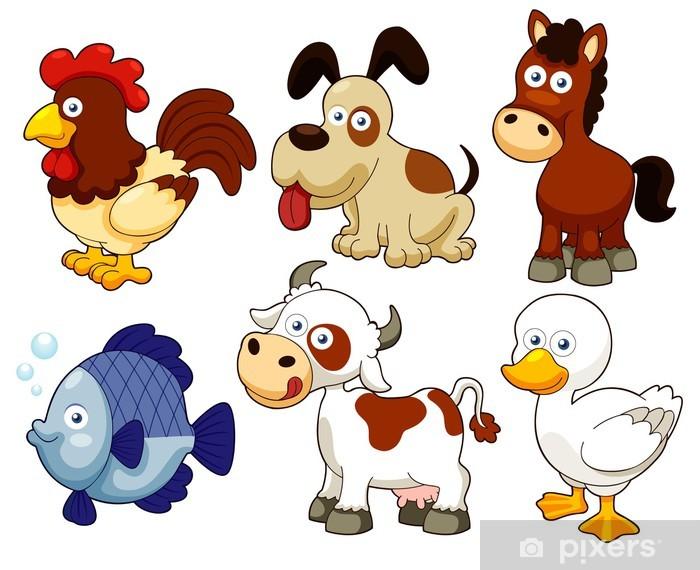 Naklejka Pixerstick Ilustracja cartoon hodowli zwierząt - Naklejki na ścianę