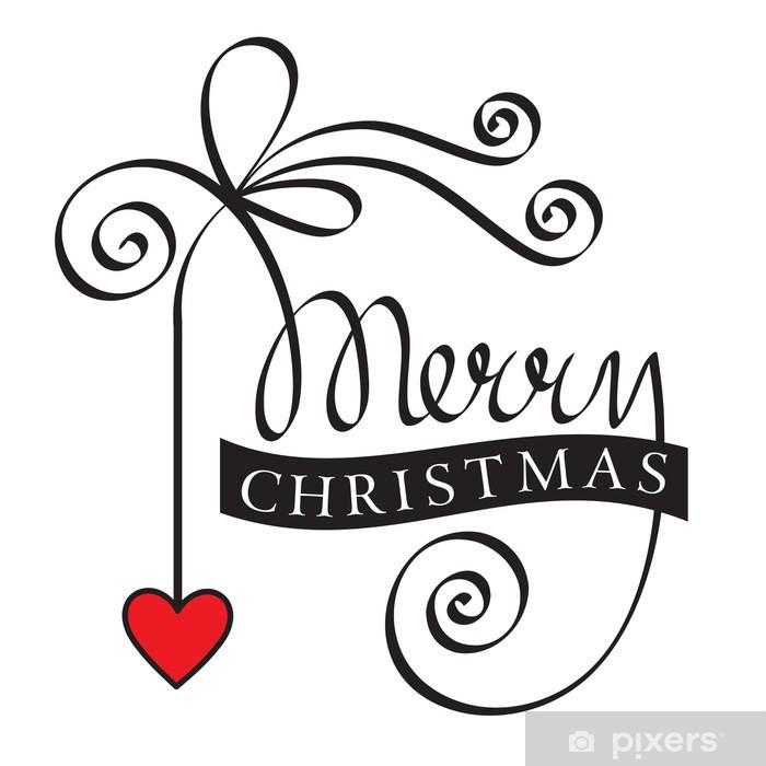 Adesivi Buon Natale.Adesivo Buon Natale Scritta A Mano Con Cuore Rosso Pixers Viviamo Per Il Cambiamento