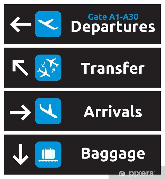 Papier peint vinyle Panneaux indiquant l'aéroport - Dans les airs
