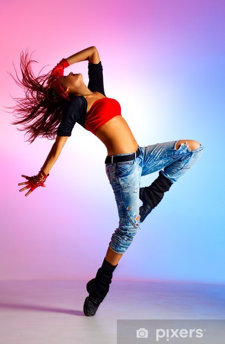 Fototapet av Vinyl Ung kvinna dansare - Teman