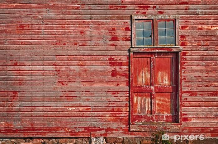 Red Barn Door Wall Mural Pixers We Live To Change