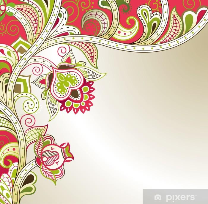 Poster Floral abstrait - Arrière plans