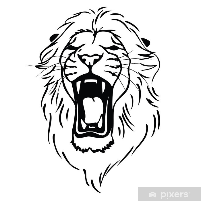 Isolated Lion Head As A Symbol Sign Emblem Wall Mural Pixers