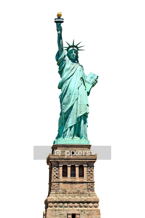Statue of Liberty - isolated on white Wall Decal - Wall decals