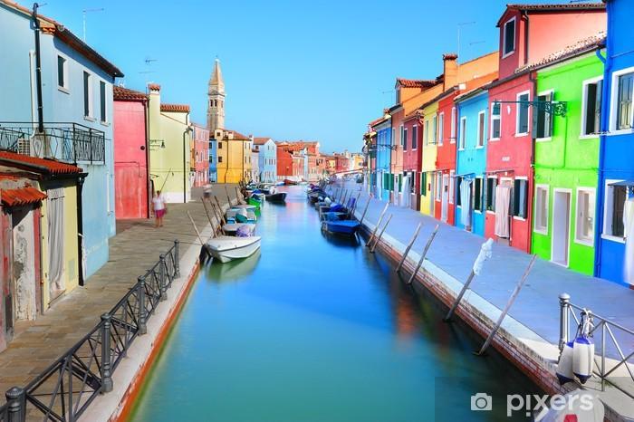 Fotomural Estándar La isla de Burano colorido paisaje - Venecia - Temas