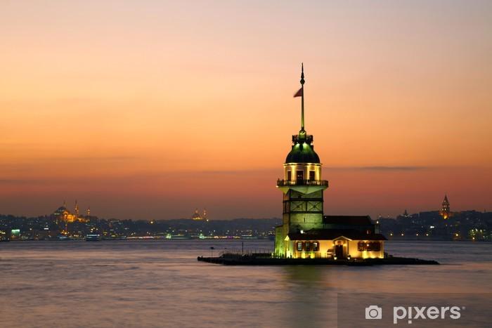 Fototapeta samoprzylepna Maiden Tower (Wieża Dziewicza). Istanbul, Turkey - Bliski Wschód