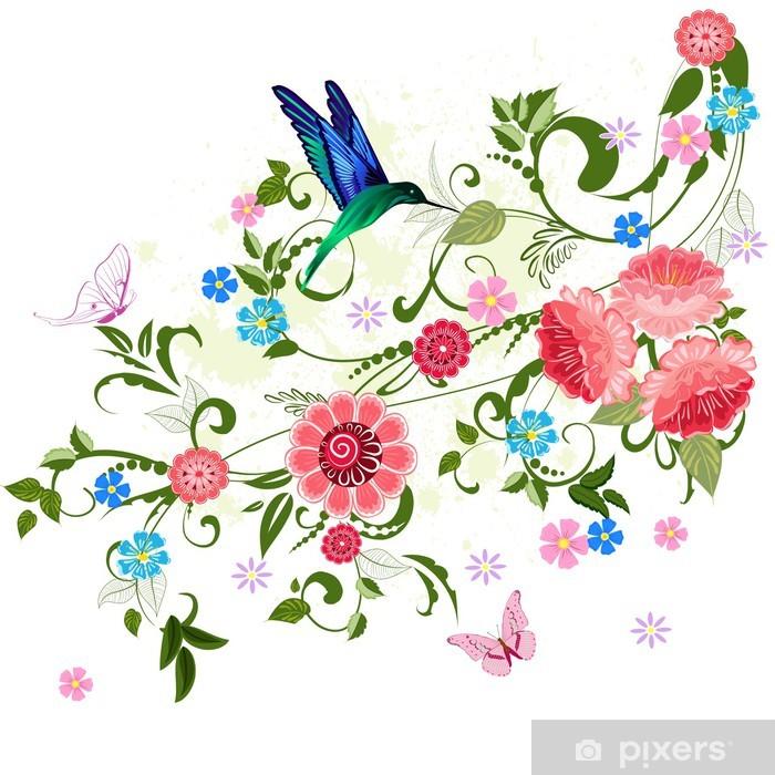 Naklejka Pixerstick Ozdoba kwiatu dla projektu - Naklejki na ścianę
