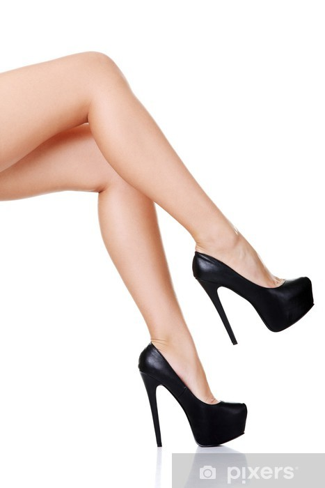 Carta da Parati in Vinile Donna gambe e scarpe tacco alto