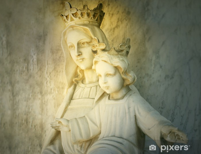 Mary and Jesus Vinyl Wall Mural - Themes
