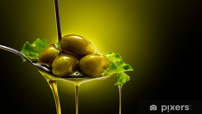 Papier peint vinyle Orientée objet e Olive - Olives