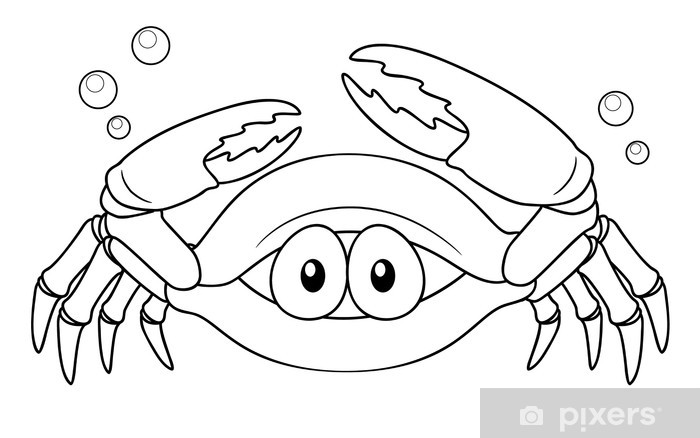 Fotomural Ilustración de cangrejo de la historieta - Libro para ...