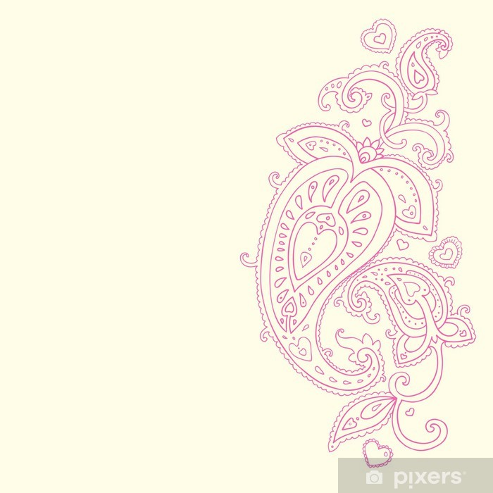 Hand Drawn Paisley ornament. Poster - Styles