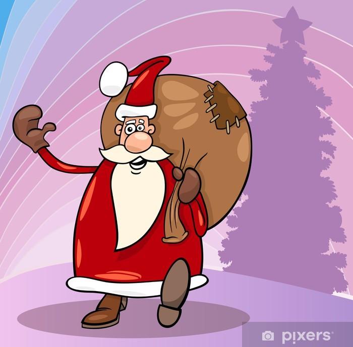 Plakat Santa Claus cartoon Boże Narodzenie - Święta międzynarodowe