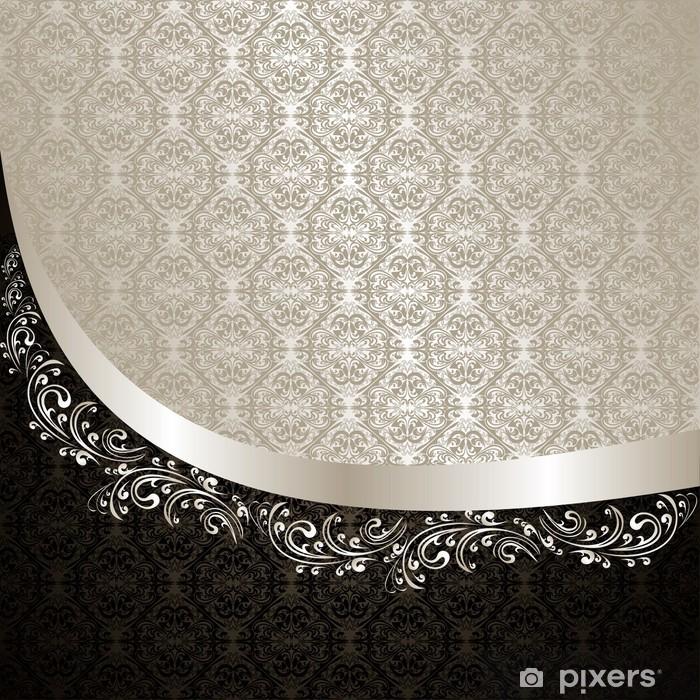 Nálepka Pixerstick Luxury Background: stříbrná a černá. - Pozadí