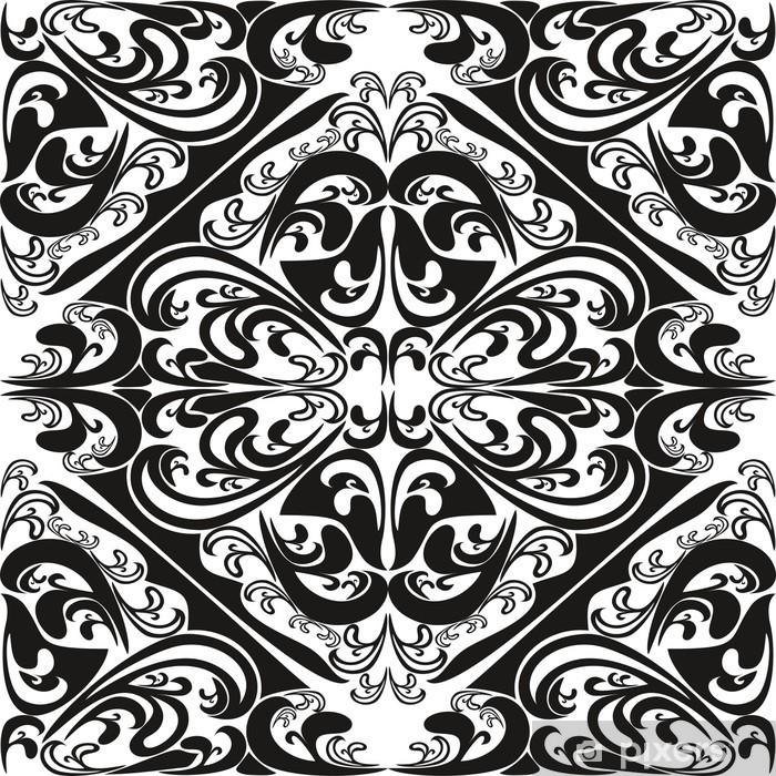 Vinyl Fotobehang Naadloos patroon op een witte achtergrond. - Achtergrond