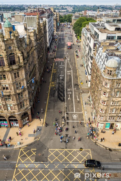 Fototapeta samoprzylepna Widok na Princess Street w Edynburgu - Tematy