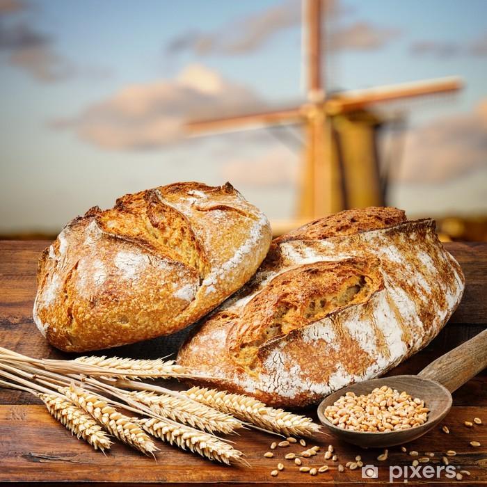 Naklejka Pixerstick Świeżo upieczony chleb tradycyjny - Style