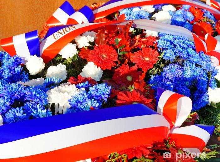 Papier peint vinyle Gerbe de fleurs commémorative - Réussite