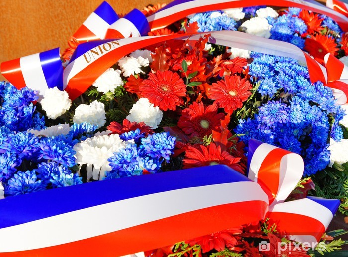 Sticker Pixerstick Gerbe de fleurs commémorative - Réussite