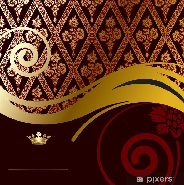 Naklejka Pixerstick Złoty barokowy tła - Święta Narodowe